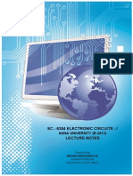 Electronic Circuits - I Lecture Notes for B.E. (ECE) (High Resolution)