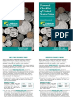 Personal Checklist of US Coins