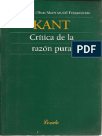 Immanuel Kant Critica de La Razon Pura