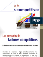 Mercado de Factores Competitivos