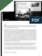 De La Materia Nace El Logos. Entrevista Nicol