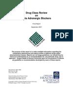 Beta Adrenergic Blockers