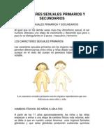 Caracteres Sexuales Primarios y Secundarios