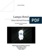 makalah lampu botol alternatif penerangan