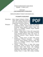 PerDa Kota Makassar No. 3 Thn 2010 Ttg Pajak Daerah Kota Makassar