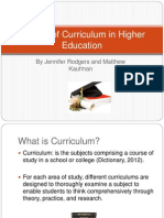 7 shifts of curriculum in higher education