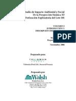Volumen I Descripcion Del Proyecto