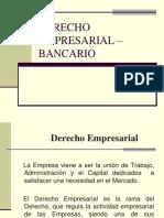 Derecho Empresarial –Bancario