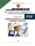 Modulo 6 Administración de La Produccion de Bienes y Servicios