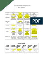 Horarios de Examenes Departamentales 2014-1