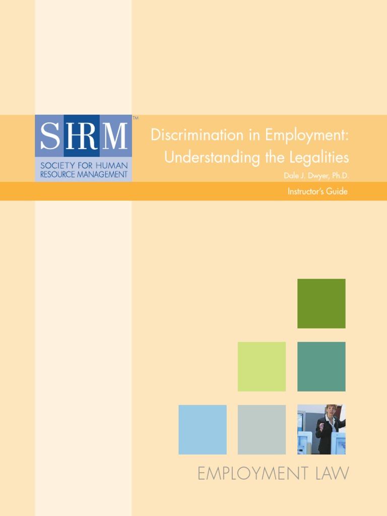 Discrimination In Employment Disparate Treatment Disparate Impact