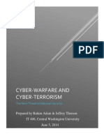 AnalyticalReport Cyberwarfare& Cyberterrorism
