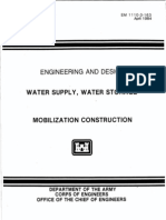 Engineering and Design - Water Supply, Water Storage - Mobilization Construction