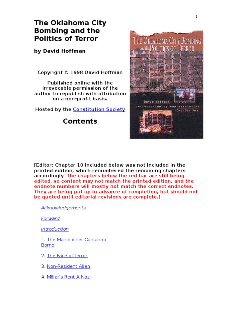 The Oklahoma City Bombing and the Politics of Terror | Explosive ...