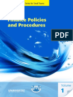 Finance Policies and Procedures Manual Volume 1