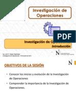 T1.1 IO - UPN - Investigación de Operaciones - Introducción