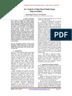Comparative Analysis of Edge Based Single Image Superresolution