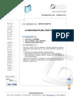 If n. 082 La Deducibilità DellIRAP Per Il 2012