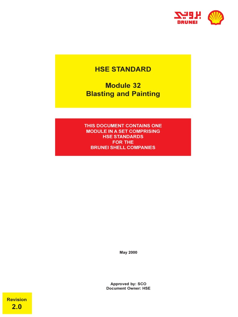 BSP-02-Standard-1633 - Blasting and Painting (Mod 32, Rev