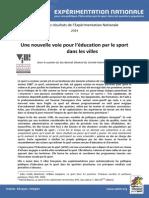 APELS-Synthèse 4 Pages Résultats de l'Expérimentation Politique Educ.sport-2