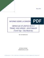 3º Informe Medición Ruidos Obras Eixo Atlántico