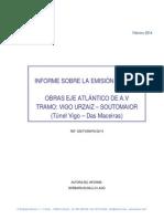 2º Informe Medición Ruidos Obras Eixo Atlántico
