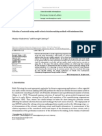 Selection of Materials Using Multi-criteria Decision-making Methods With Minimum Data