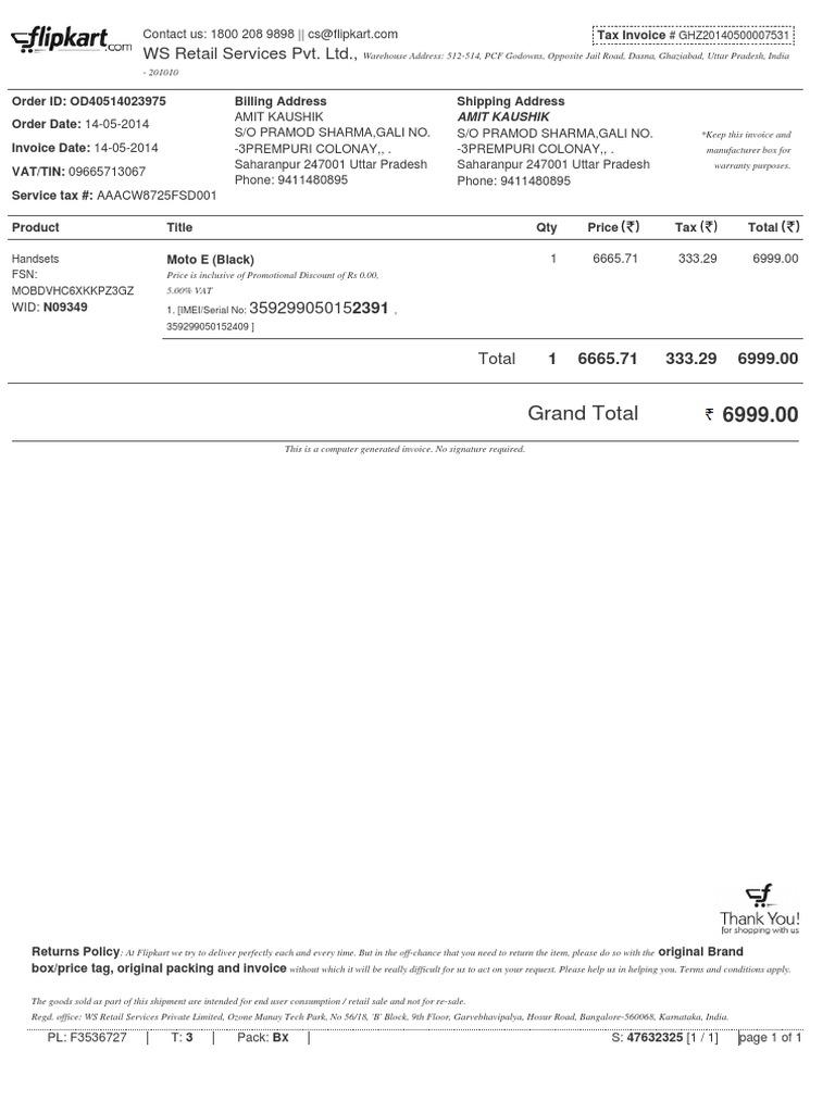 invoice od40514023975