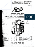 Lister D Engine Manual
