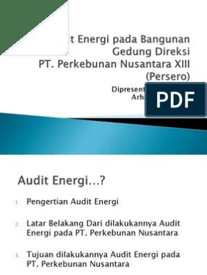 Audit Energi Pada Bangunan Gedung Direksi
