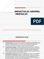 1. Analiza Impactului Asupra Mediului