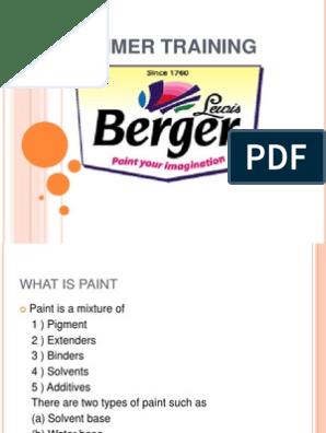 Presentatiom on Berger Paints | Paint | Sales