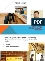 Functions of Reservation &Porters