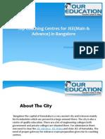 Top JEE Coaching Institutes in Bangalore