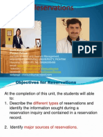 Types of Reservation