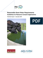 Reasonable Stock Water Requirements Guidelines for Resource Consent Applications