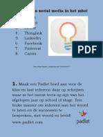 8 Ideeën Van Social Media in Het Mbo
