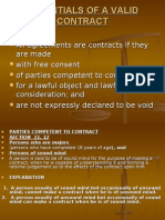essentials of a valid contract