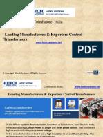 Control Transformers Manufacturers