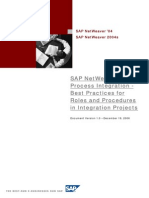SAP NetWeaver Process Integration - Best Practices for Roles and Procedures