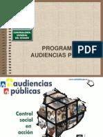 EL PROGRAMA DE AUDIENCIAS PÚBLICAS