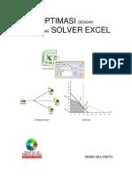 Optimasi dengan menggunakan Solver Excel