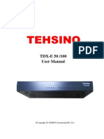 Tdx e50 Ims User Manual 201201