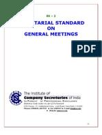 Secretarial standards for Board meeting