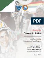 Obama in Africa-An AGOA Analysis