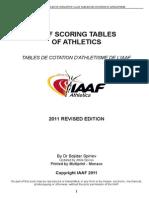 IAAF Scoring Tables of Athletics - Outdoor
