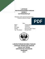 Laporan Praktikum Uji Pengaruh PH