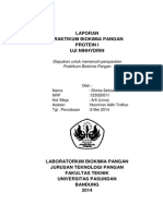 Laporan Praktikum Biokimia Protein I ( Uji Ninhidrin)