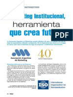Marketing Institucional Asociacion Argentina de Mkt