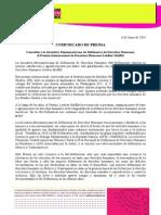 Comunicado de Prensa 060614 / Conceden a la IM-Defensoras Premio Internacional de Derechos Humanos Letelier-Moffitt
